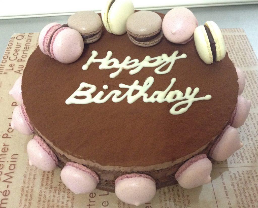 チョコムースのバースデーケーキ