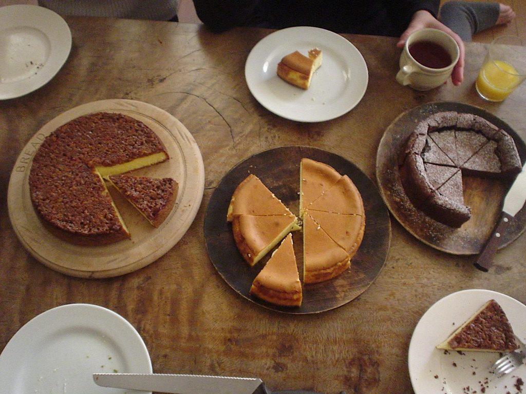 チーズケーキなど